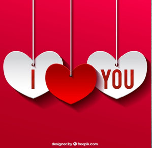Red I love You Whatsapp DP Image for Wife