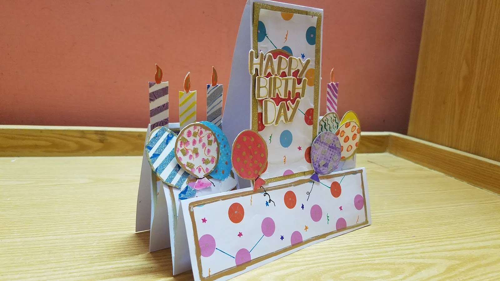 Stupendous Gs Craft Diy Double Sided Popup Birthday Card Making Funny Birthday Cards Online Fluifree Goldxyz