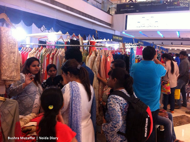 Noida Diary: People Shopping at The Kraft Festival in Noida