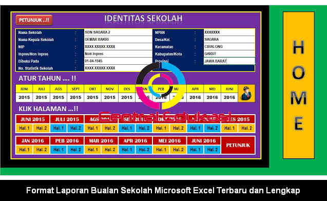 Download Format Laporan Bulanan Sekolah Microsoft Excel Terbaru dan Lengkap