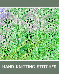 #HowToKnit Ginkgo Leaf Lace Pattern. This stitch is reminiscent of ginkgo leaves, hence the name of the stitch