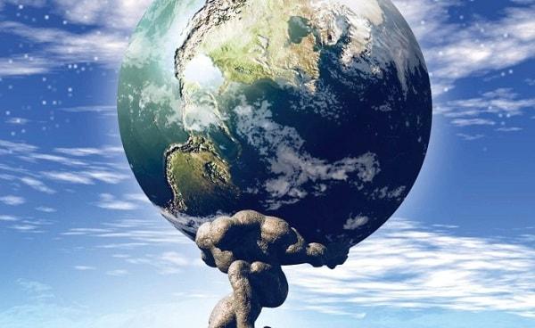 atlas memikul dunia