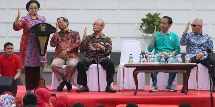 Dihadapan Jokowi, Mega Sebut Pemimpin Pancasila, Pemimpin Yang Berpenampilan Menarik