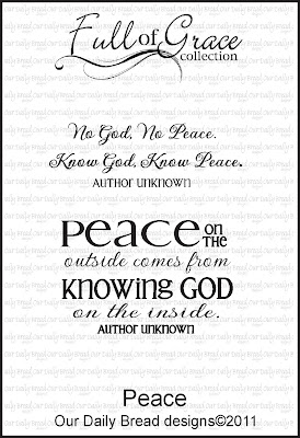 "Our Daily Bread designs ""Peace - the Full of Grace Collection"""