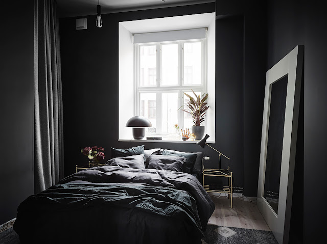 Nice and interesting scandinavian interior
