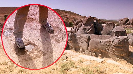 Enormes huellas en las ruinas del templo de Ain Dara recuerdan a una largamente olvidada raza de gigantes