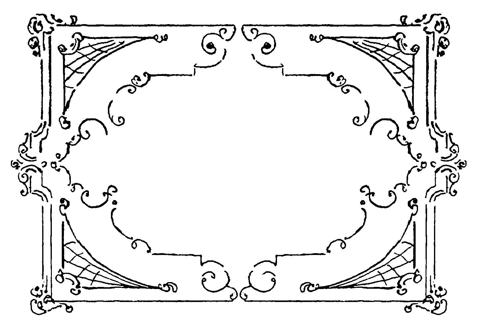 Digital Stamp Design Free Printable Flourish Frame Swirl