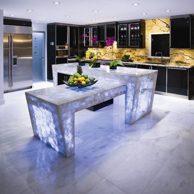 Backlit-kitchen-countertop