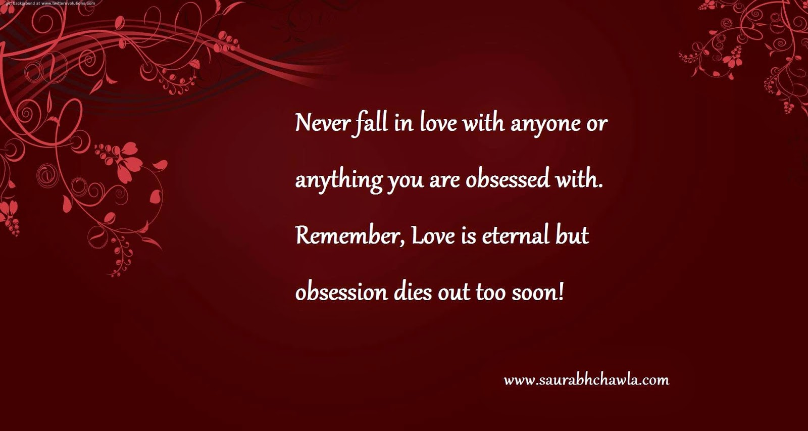 Love and obsession quotes by saurabh chawla