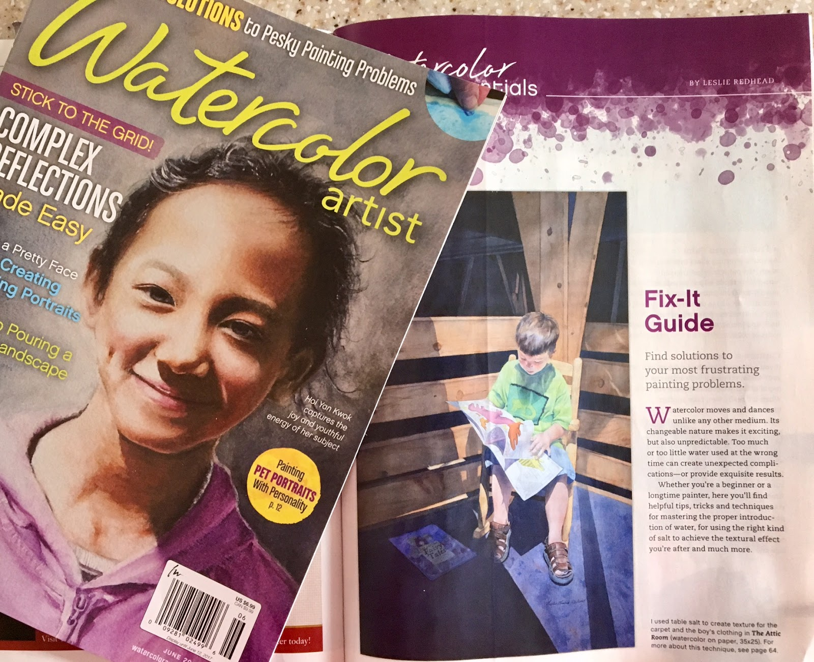 Watercolor artist magazine review - Watercolor Artist Magazine Feature