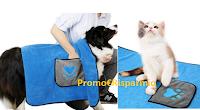 Logo Dadypet coperta/ asciugamano/ telo multifunzione per cani e gatti 4 in 1 sconto 50% a soli € 12,49