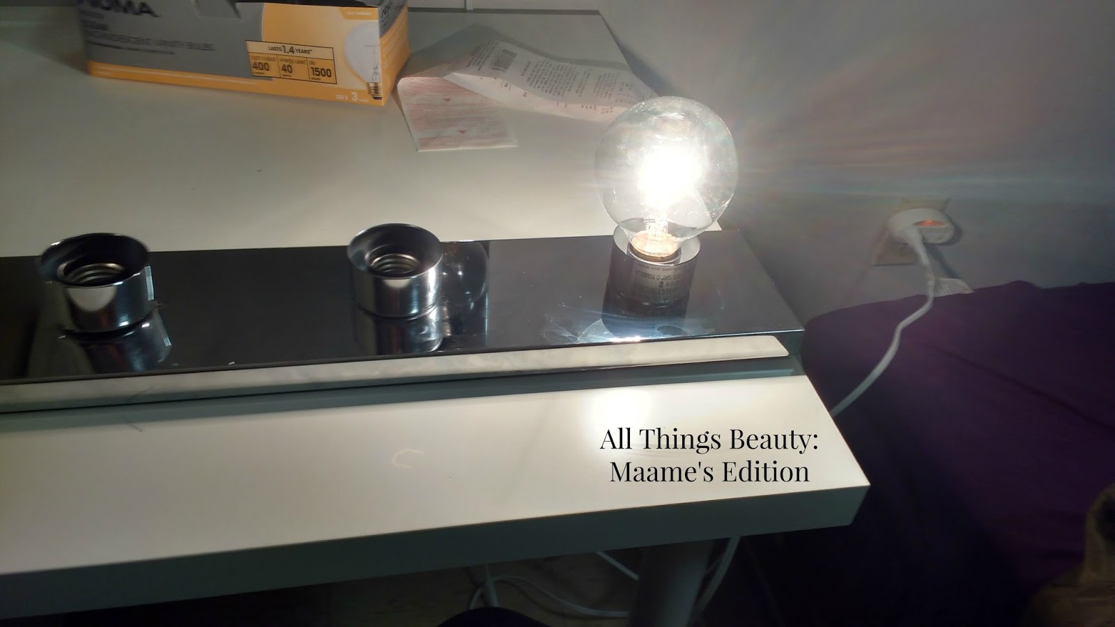 MAKEUP STORAGE DIY MAKEUP VANITY TABLE WITH LIGHTS FOR UNDER USD 200 - All Things Beauty: Maame s ...