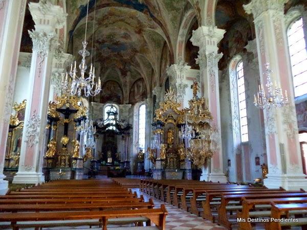 Interior de la Iglesia de San Pedro (Maguncia, Alemania)