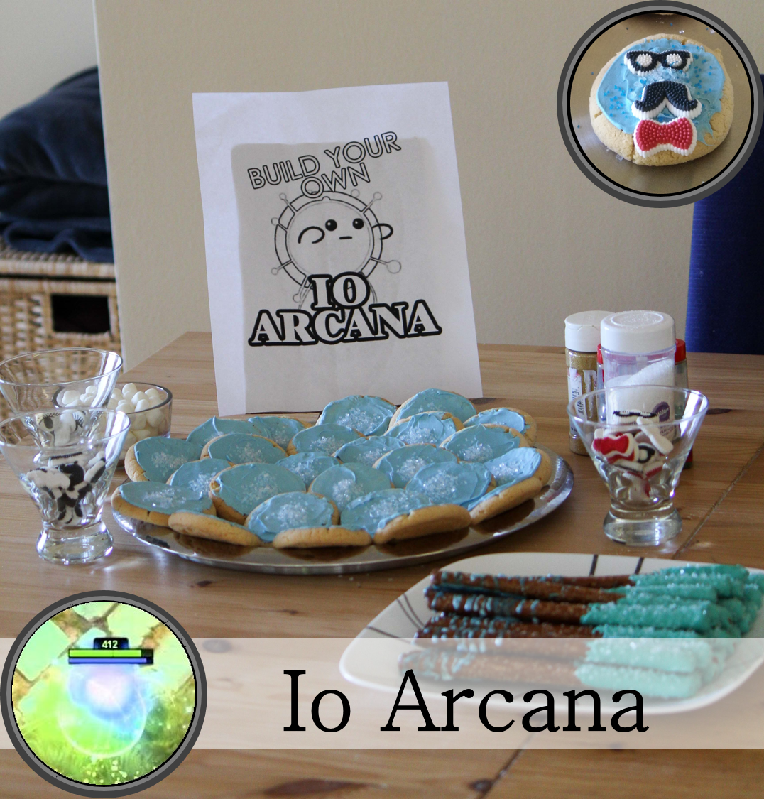 Cookie decorating station for creating your own Io arcana