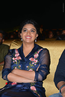 Actress Keerthi Suresh Stills in Blue Long Dress at Nenu Local Audio Launch  0049.JPG