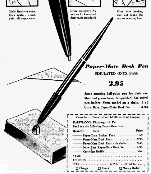 Pen shots and thoughts: Early history of Paper Mate