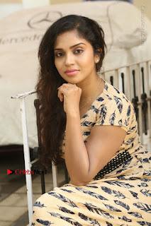 Telugu Actress Karunya Chowdary Stills in Short Dress at ATM Not Working Press Meet  0191.jpg