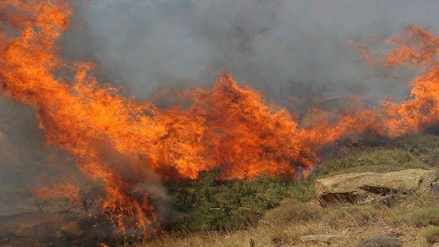 Κύθηρα: Πυρκαγιά στην περιοχή της Αγίας Πελαγίας
