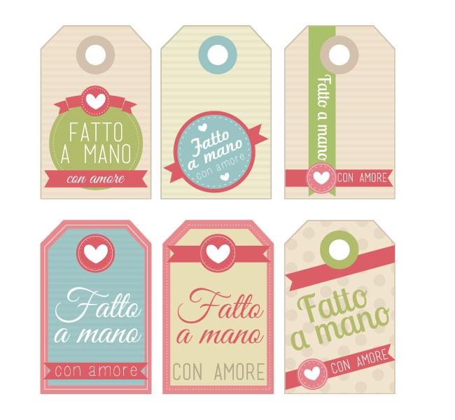Conosciuto Free Printables: Etichette Fatto a Mano con Amore - Home Shabby  FN69
