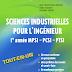 Livre: SCIENCES INDUSTRIELLES POUR L'INGÉNIEUR 1er année MPS PCSI PTSI / Jean-Dominique Mosser & Yves Granjon & Jacques Tanoh