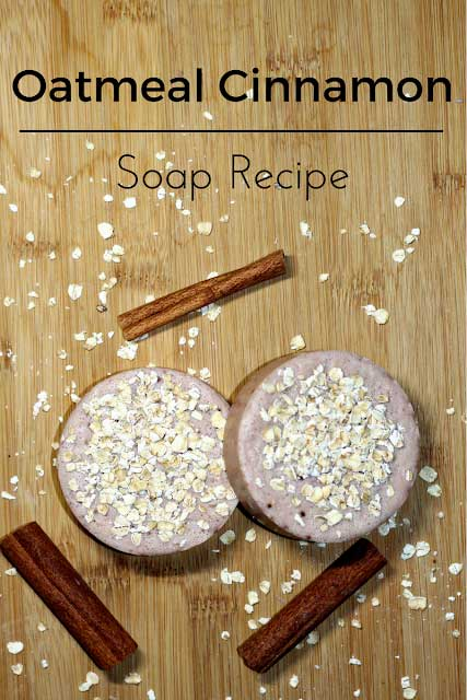 Looking for soap making recipes? This soap making ideas is perfect for beginners because it only takes about 10 minutes to make soap. Soap making diy doesn't have to a long process or involve a lot of ingredients. Making soap recipes like this are easy to make at home. #soap #soapmaking #makesoap #diysoap #oatmeal #cinnamon