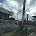 Protesto na Av. Bernardo Vieira com Prudente de Morais sentido Morro Branco