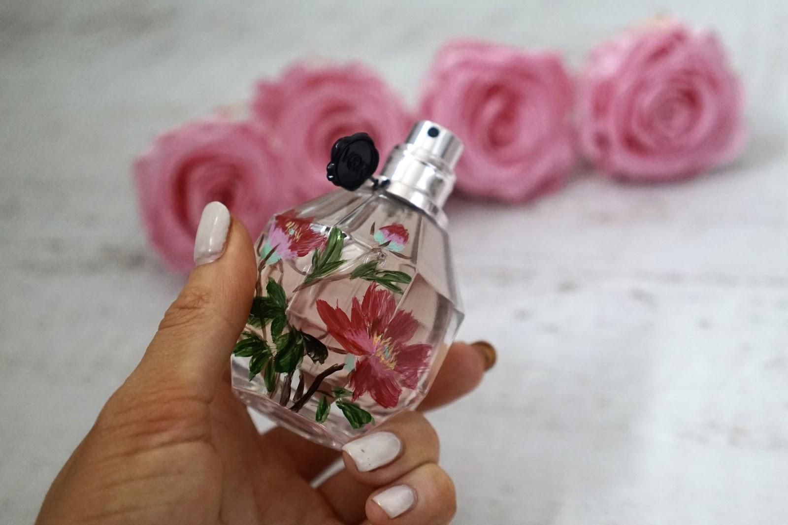 handpainted flower bomb perfume