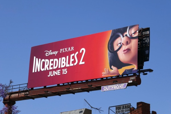 Edna Mode Incredibles 2 movie billboard