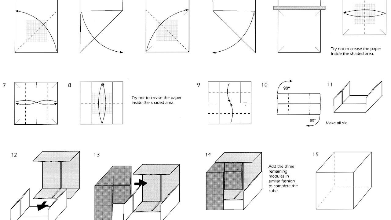 Origami Seamless Cube - YouTube | 720x1280