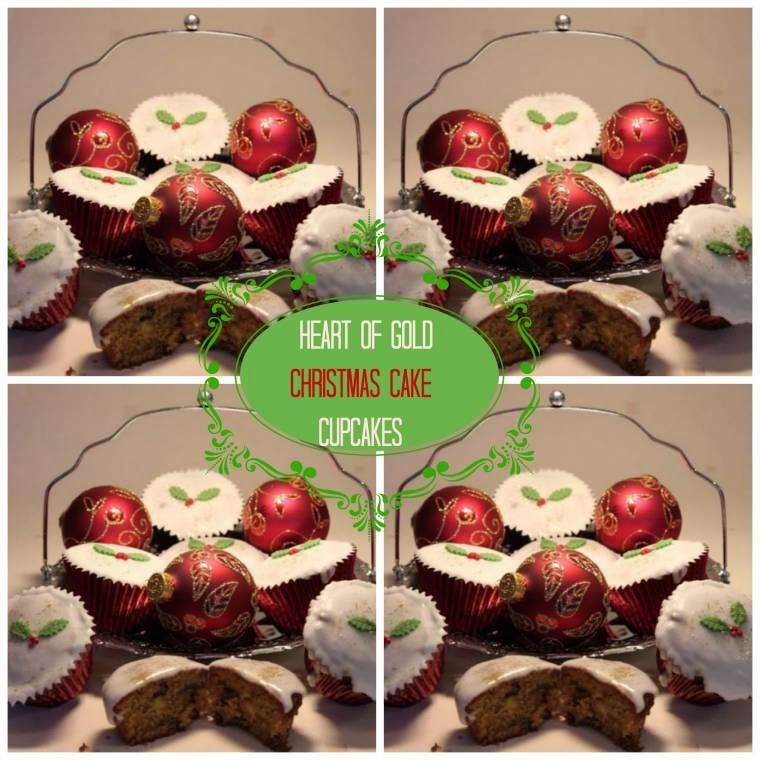 Heart Of Gold Christmas Cake Cupcakes: How Yummy