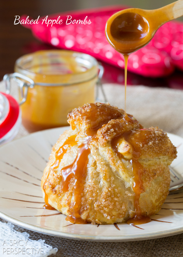 fried caramel apple pie bombs