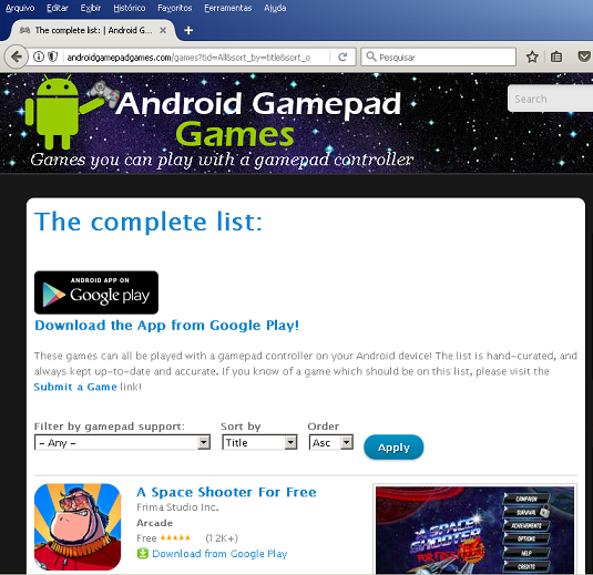 Site Android Gamepad Games