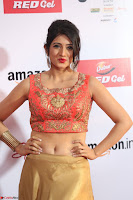 Harshika Ponnacha in orange blouuse brown skirt at Mirchi Music Awards South 2017 ~  Exclusive Celebrities Galleries 046.JPG