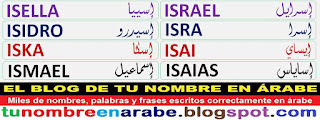 mi nombre en arabe para tatuajes: ISRAEL ISRA ISAI ISAIAS