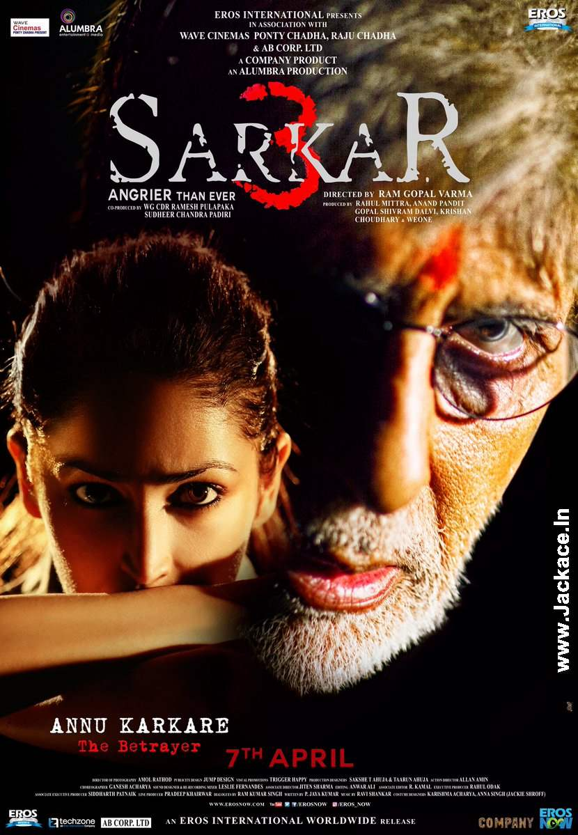 sarkar 3 box office budget cast hit or flop posters