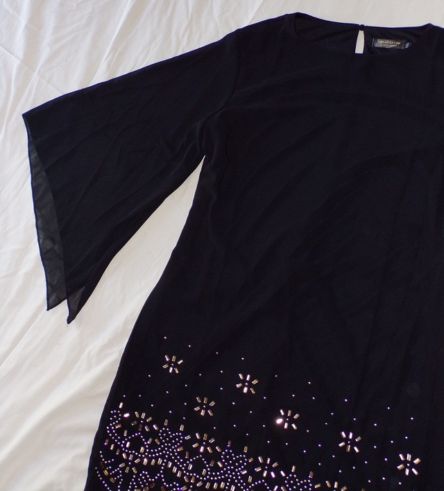 #vestido negro de rosegal