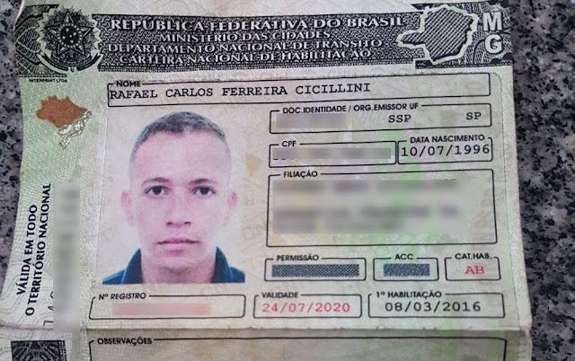 Jovem com CNH falsa foi preso nesta quinta-feira (8) em Ribeirão Preto, SP (Foto: Polícia Militar/Divulgação)
