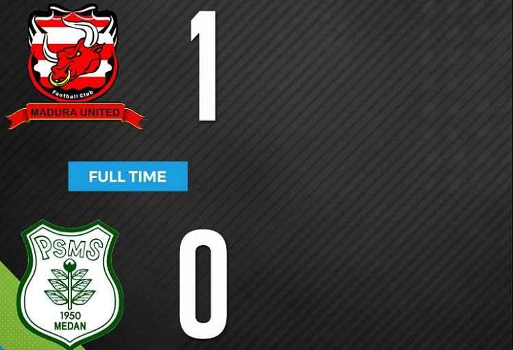 Hasil Madura United vs PSMS Medan Skor Akhir 1-0 | Pekan 14 Liga 1 Gojek