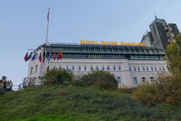 Hotel, Hafen, Hamburg, bei der Erholung, Aussichtspunkt, platz, panorama, Aussicht
