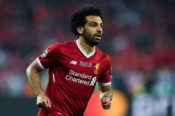 Mohamed Salah of Liverpool looks on during the UEFA Champions League final between Real Madrid and Liverpool on May 26, 2018 in Kiev, Ukraine.