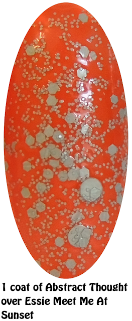 Abstract Thought over Essie Meet Me At Sunset- Nails- #nails #essie