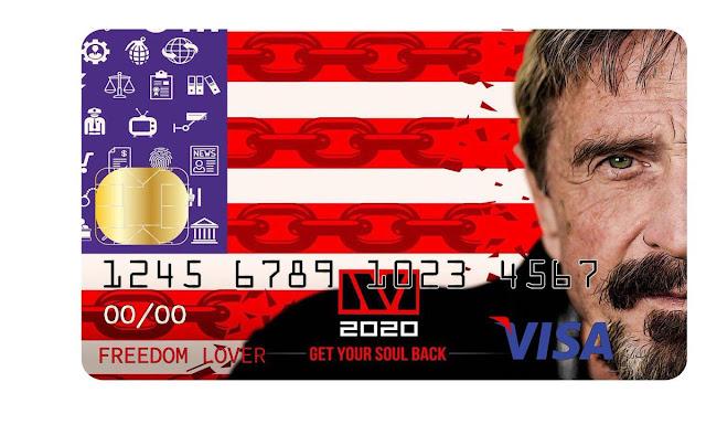 Kartu Visa Bitcoin pertama yang diciptakan oleh John McAfee akan bisa digunakan dimana saja oleh siapa saja.