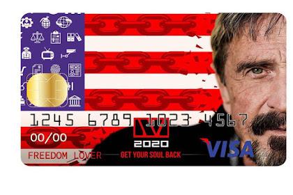 McAfee Akan Merilis Visa Card Bitcoin yang Bisa digunakan Dimana saja