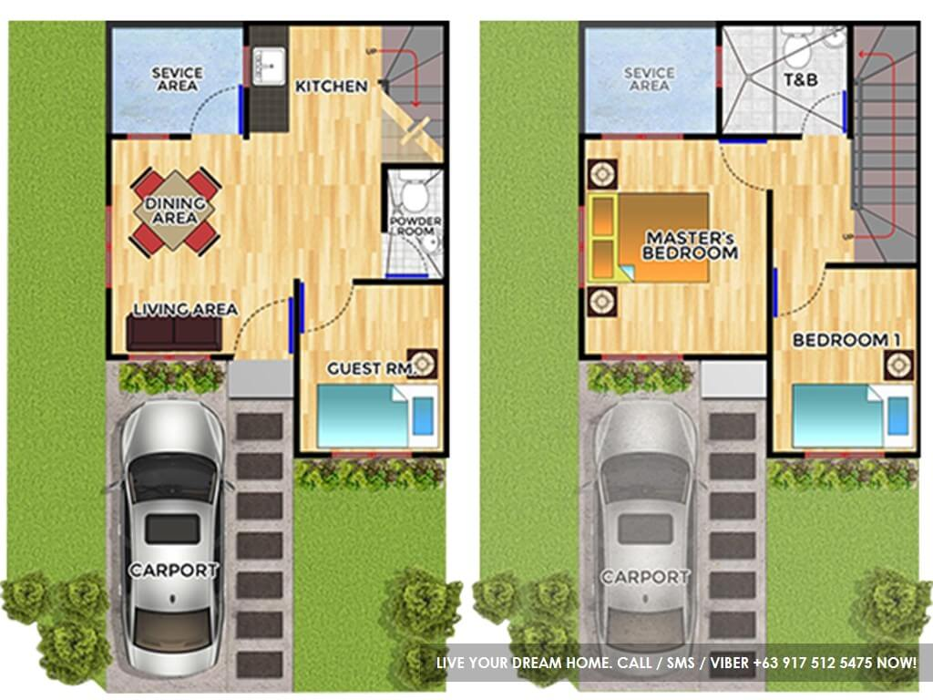 Floor Plan of Felicia - Micara Estates | House and Lot for Sale Tanza Cavite
