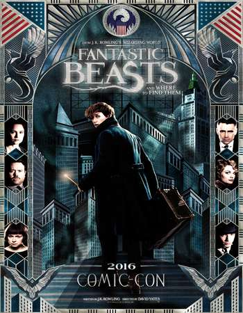 Poster Of Fantastic Beasts and Where to Find Them 2016 English 550MB HC HDRip 720p HEVC Free Download Watch Online downloadhub.in