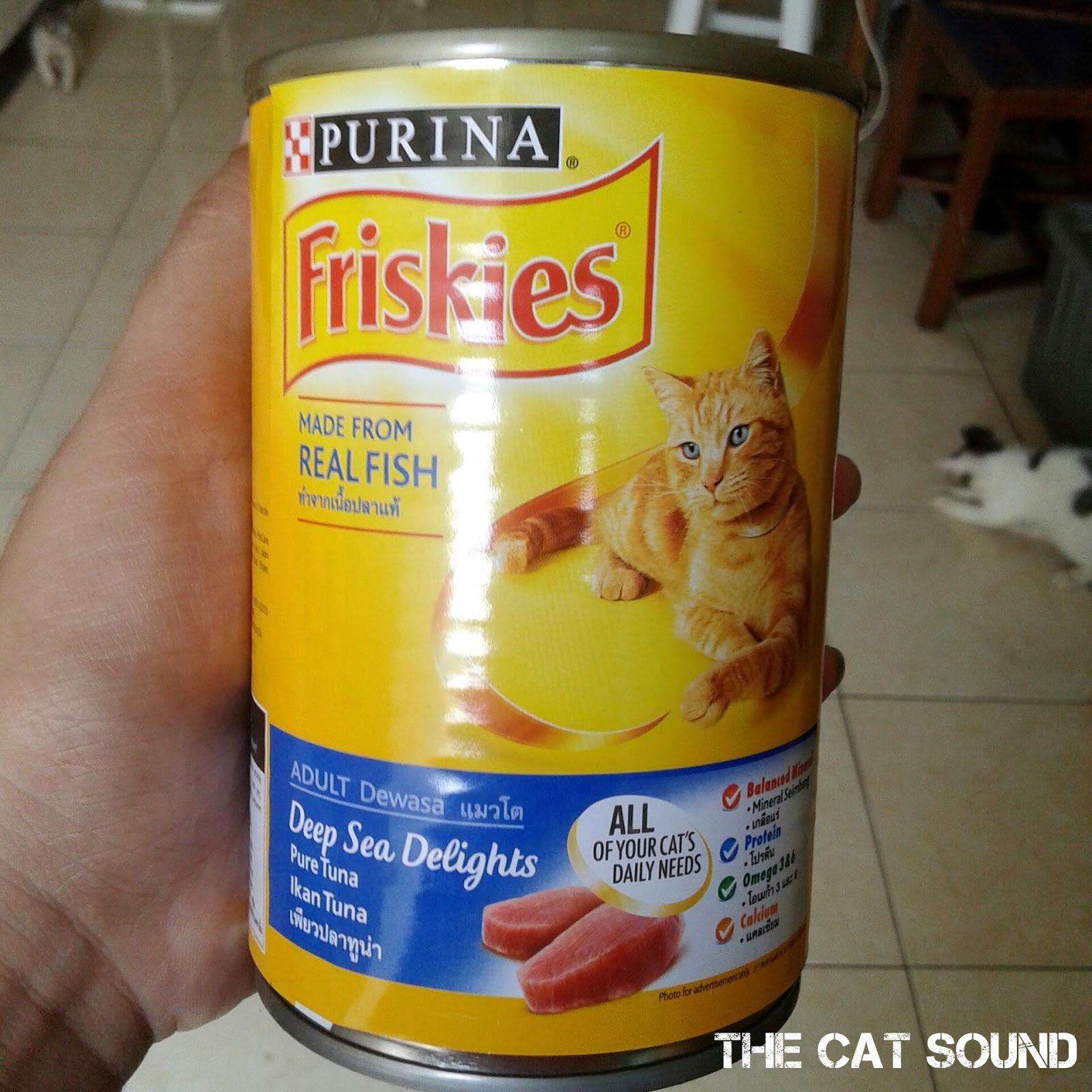 The Cat Sound Review Makanan Kucing Friskies Adult Deep Sea Delights Pure Tuna Wet Food