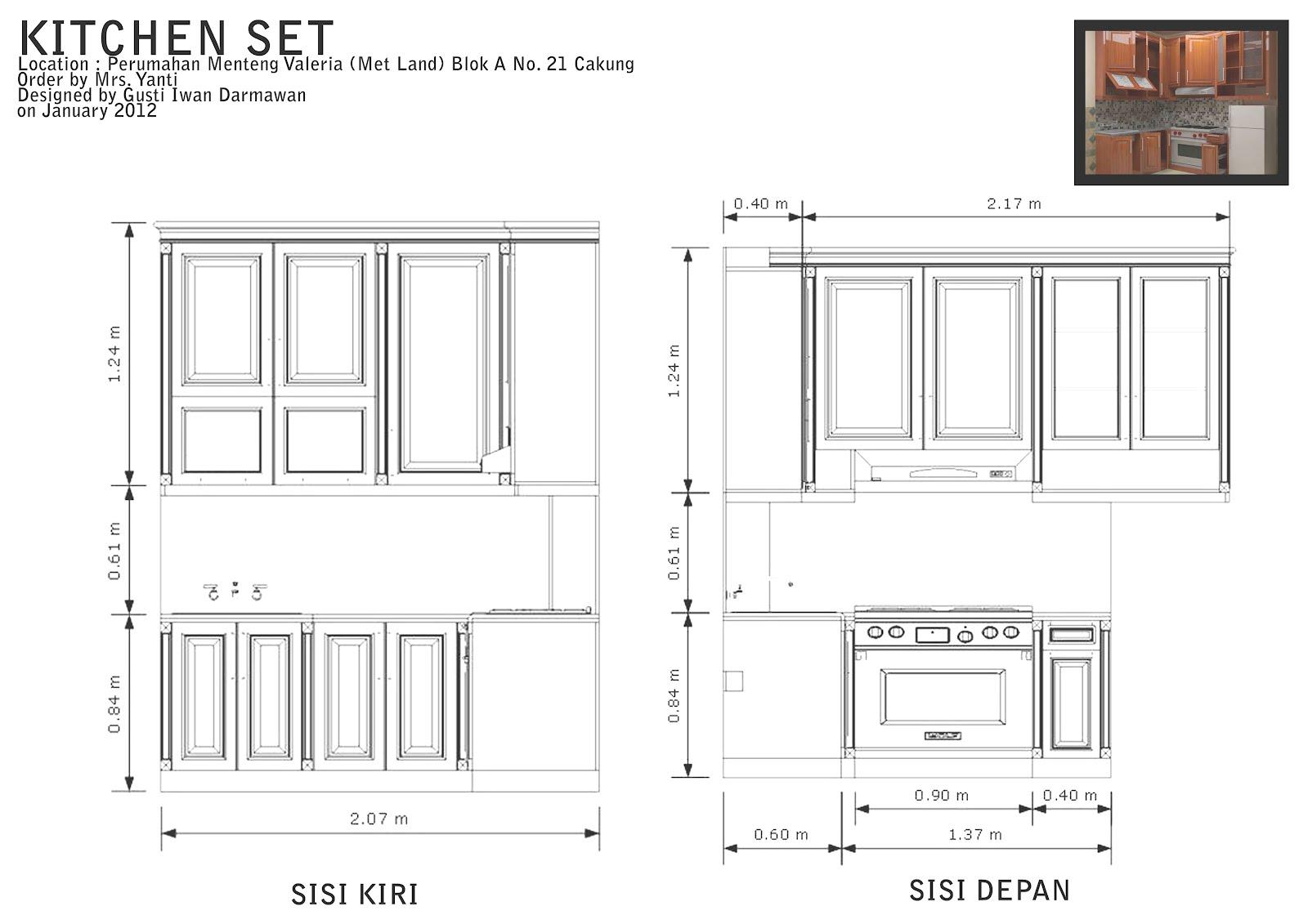 One Furnish Work Simple Kitchen Set Design