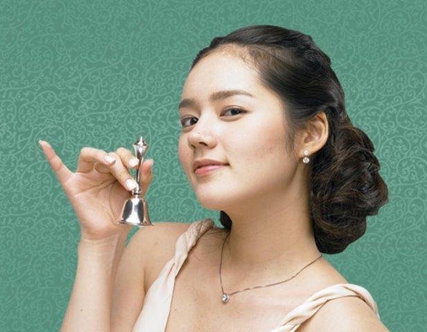 Model Rambut Sanggul Ala Han Ga In