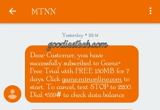 MTN game plus free mb