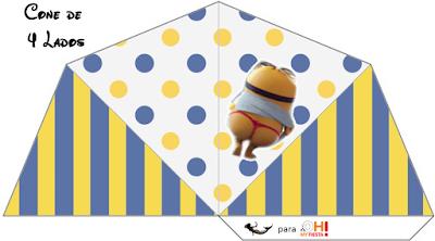 Sombrero para Imprimir Gratis de  Minions Sexy.